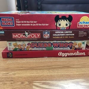 Other - Board games and blocks, monopoly NFL